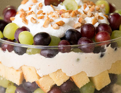 peanut butter and grape trifle