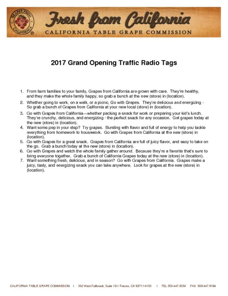 thumbnail of 2017 U.S. Traffic Radio Tags – Grand Opening