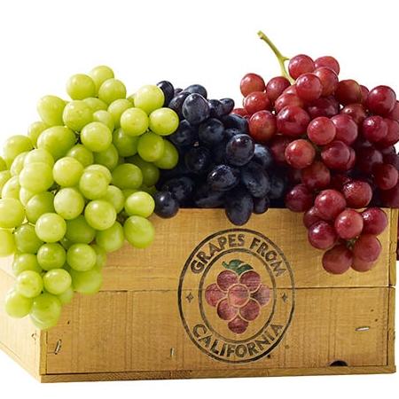 California Table Grapes box of grapes