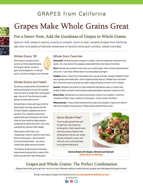 Grapes Make Whole Grains Great