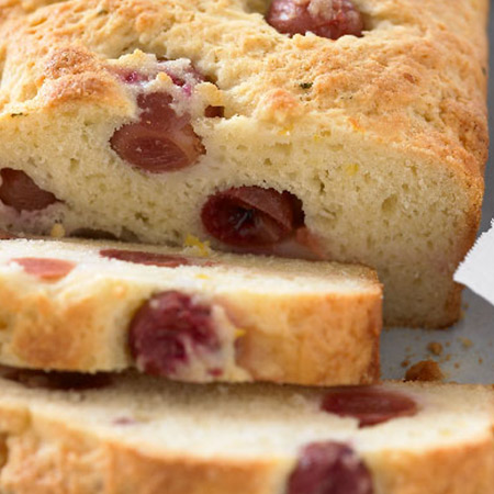 grape and cranberry tea bread