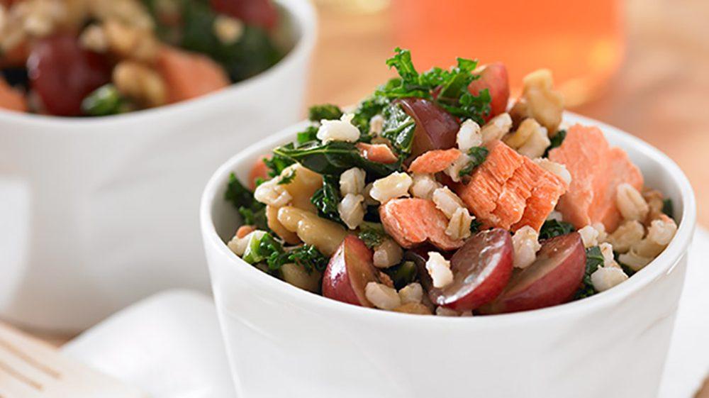 Grape and Salmon Power Salad