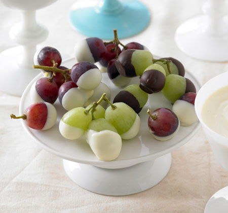 Chocolate dipped grapes