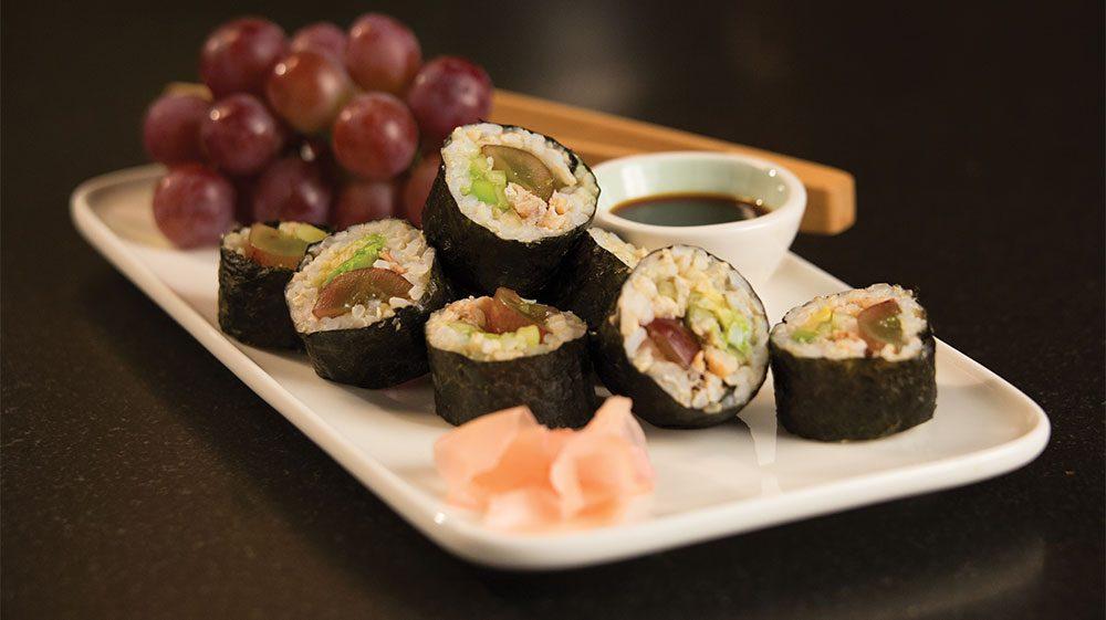 california-grape-sushi-rolls