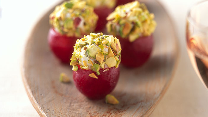 goat-cheese-stuffed-grapes-with-pistachios