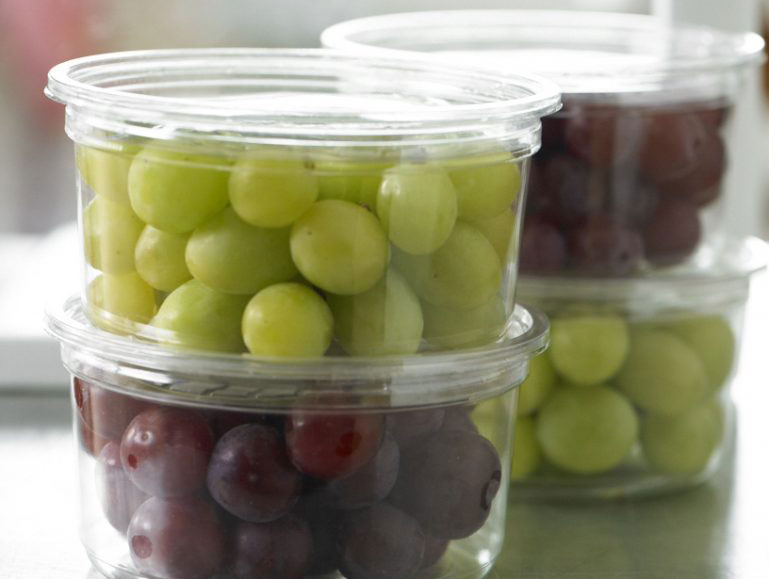 Grapes in containers
