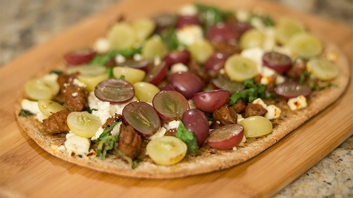 italian-sausage-flatbread-with-california-grapes