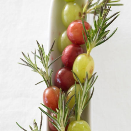 Grapes and rosemary