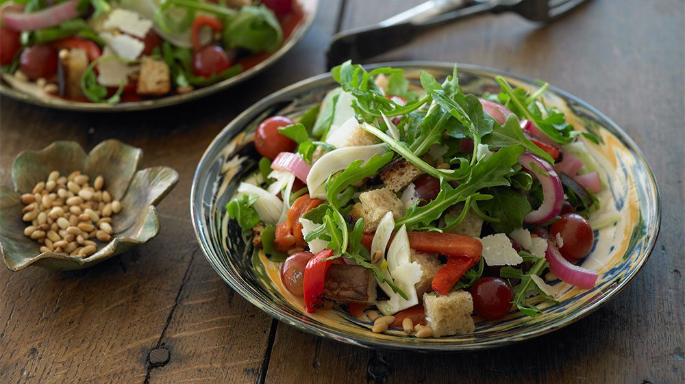 arugula-grape_bread_salad_2-plates-ek-2011
