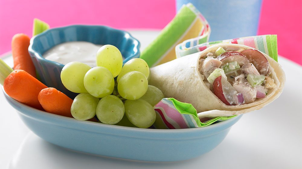 chicken-salad-wrap-with-grapes