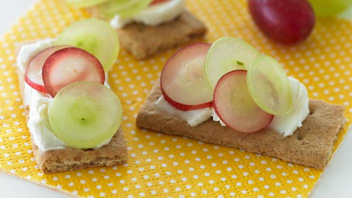 Graham Cracker Grape Sandwiches Grapes From California