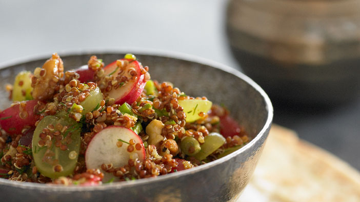 Quinoa and Grape Curry Salad