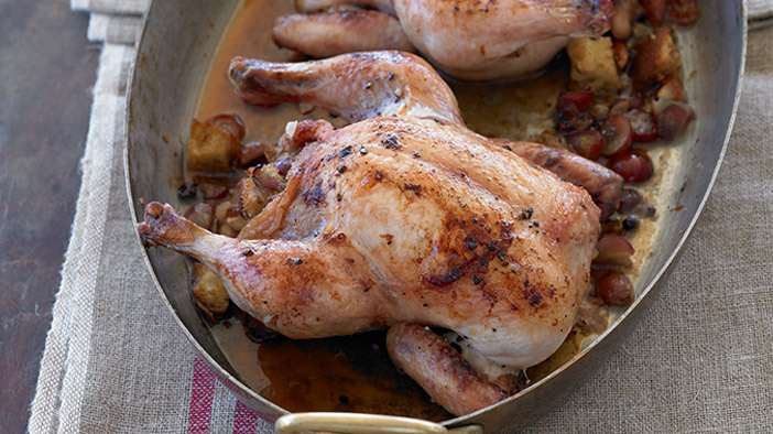 roasted-game-hens-with-spiced-grape-and-almond-dressing