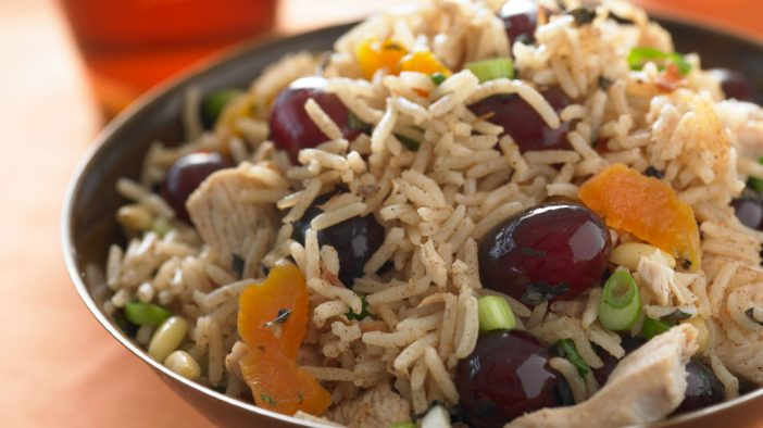 sweet-and-spicy-moroccan-turkey-pilaf