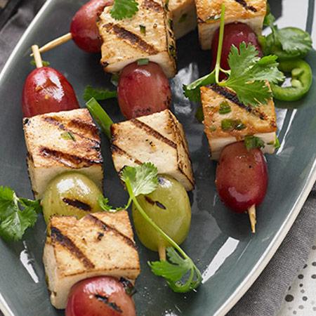 tofu grape kabobs
