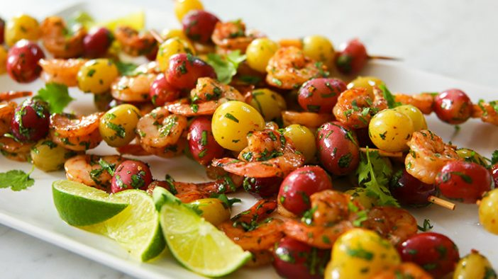 Chipotle-Lime-Shrimp-and-California-Grape-Skewers