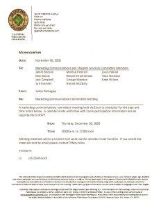 Marketing Communications Committee Meeting - 12-10-20